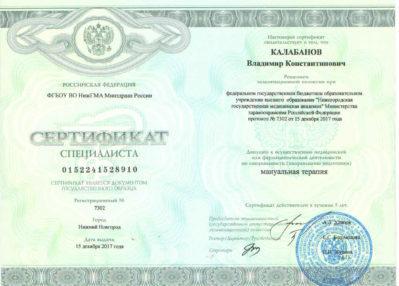сертификат 2017 года